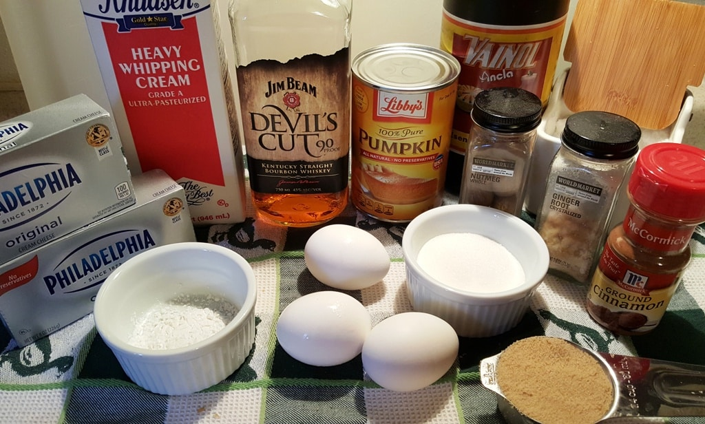 Pressure Cooker Bourbon Pumpkin Pie Cheesecake Pake Filling Ingredients