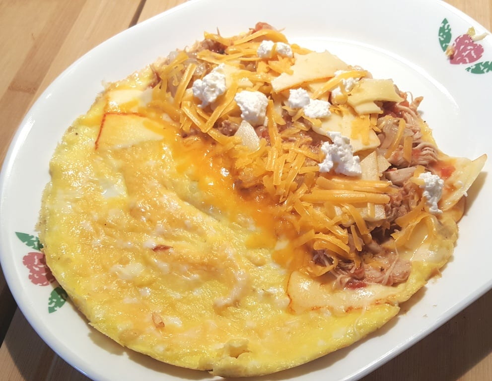 Slide the Omelet out of the Skillet