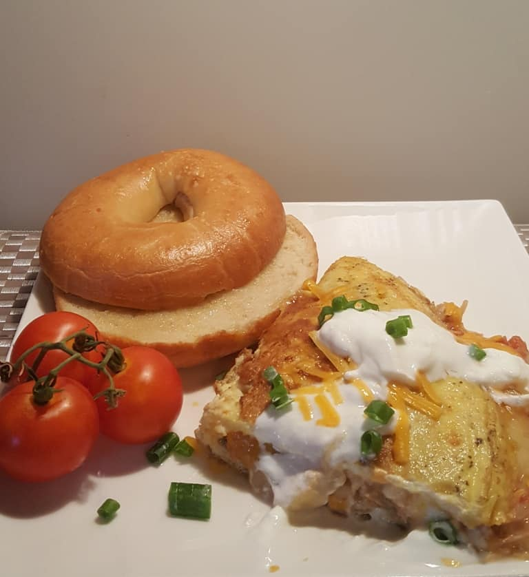 Mexican Salsa Lime Chicken Omelet