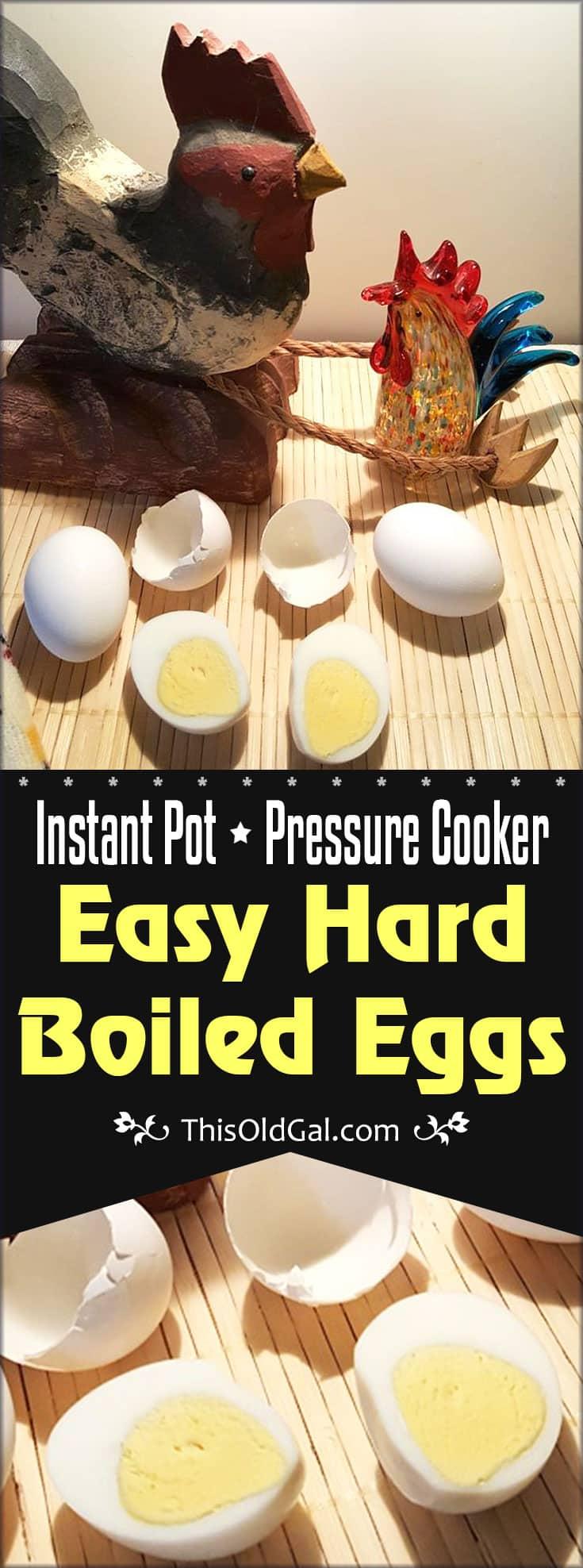 Pressure Cooker Easy Hard Boiled Eggs (Instant Pot)
