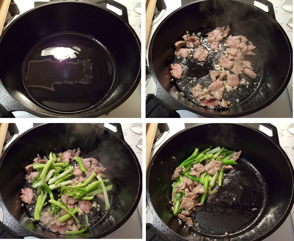 Add oil and let it sizzle