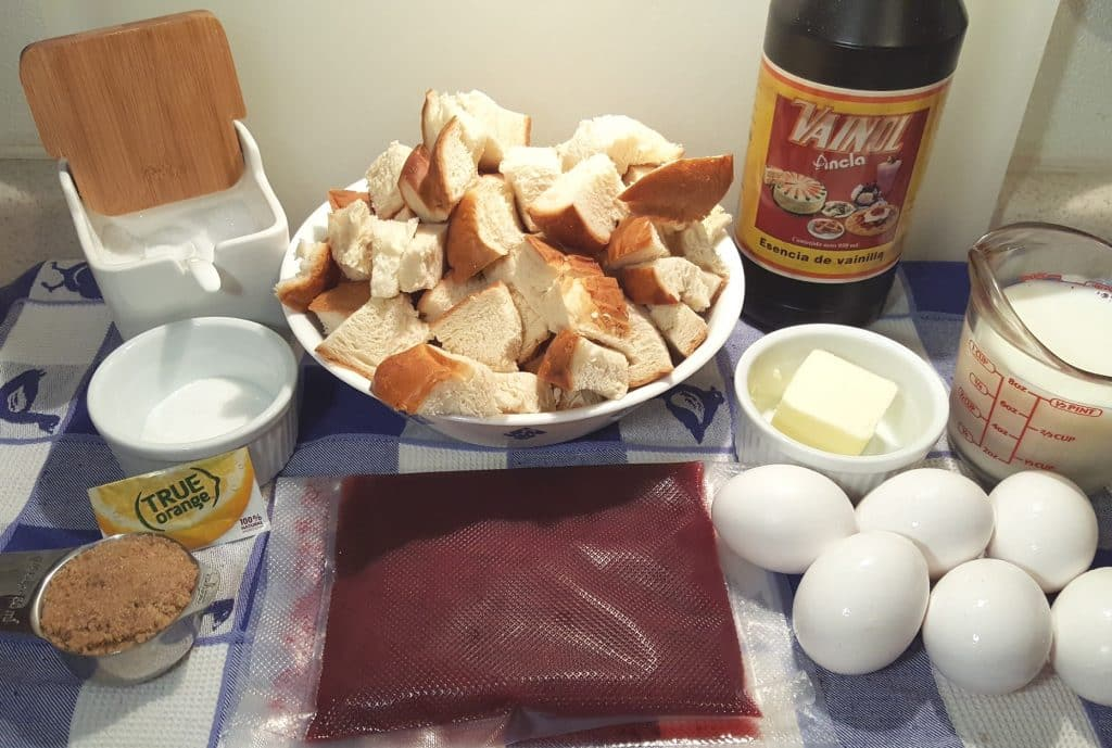 Cast of Ingredients for Instant Pot Orange Cranberry French Toast