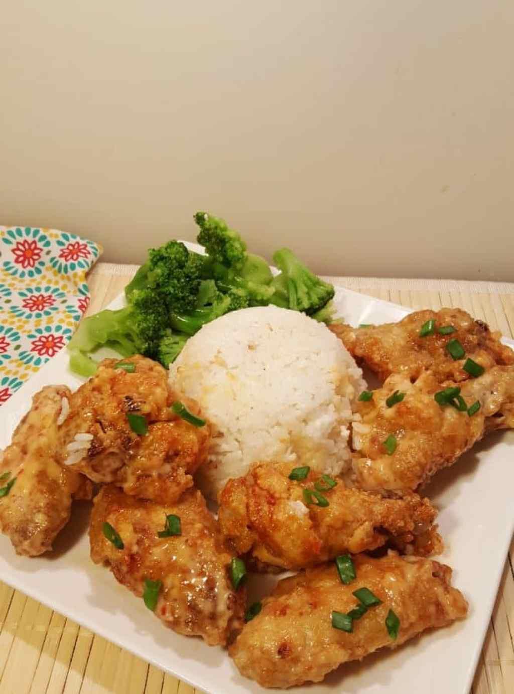 Air Fried Spicy Bang Bang Chicken Wings