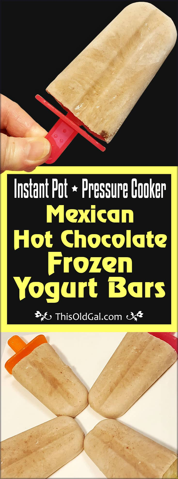 Instant Pot Mexican Hot Chocolate Frozen Yogurt Bars