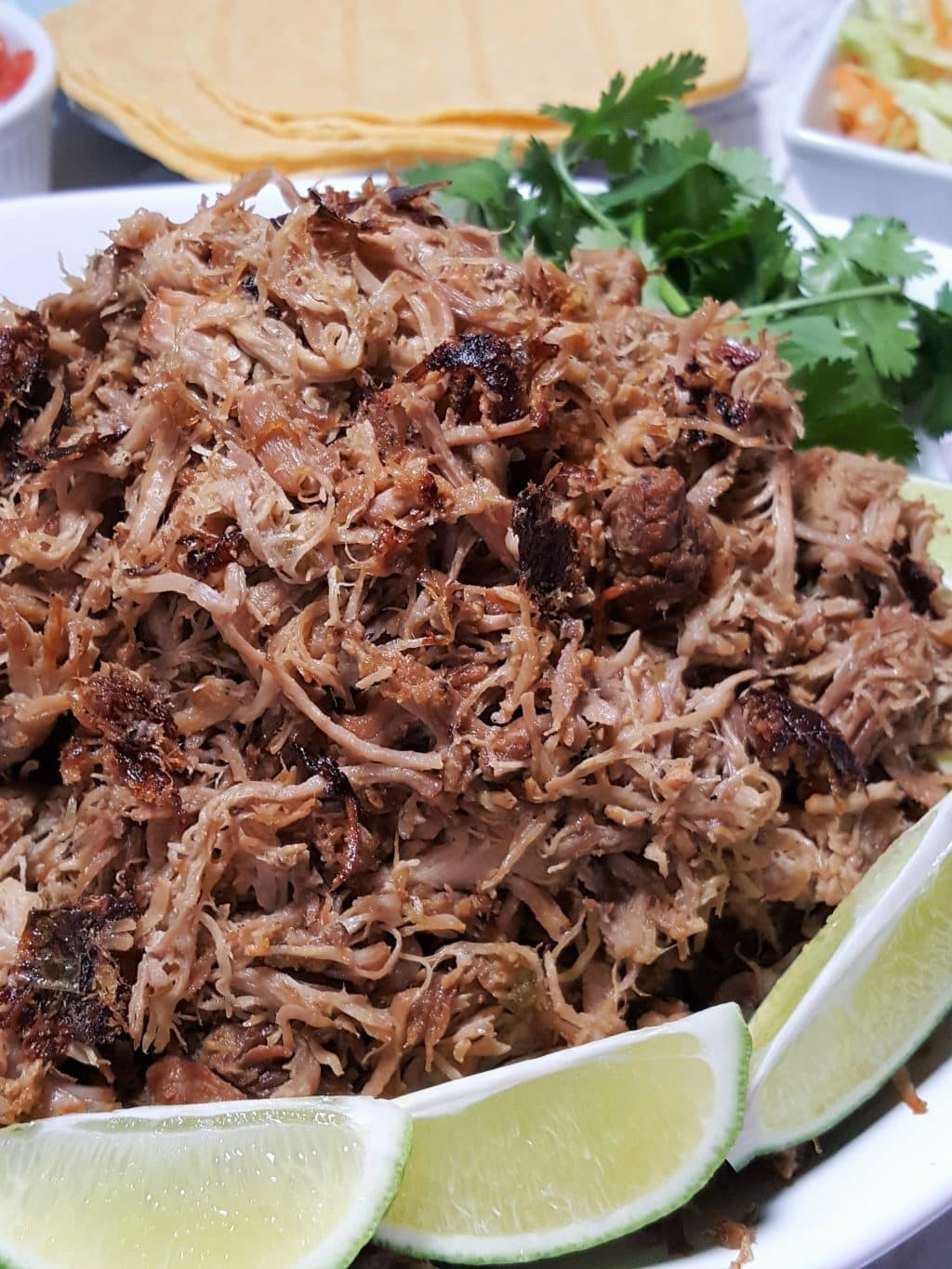 Instant Pot Cooker Carnitas Mexican Pulled Pork
