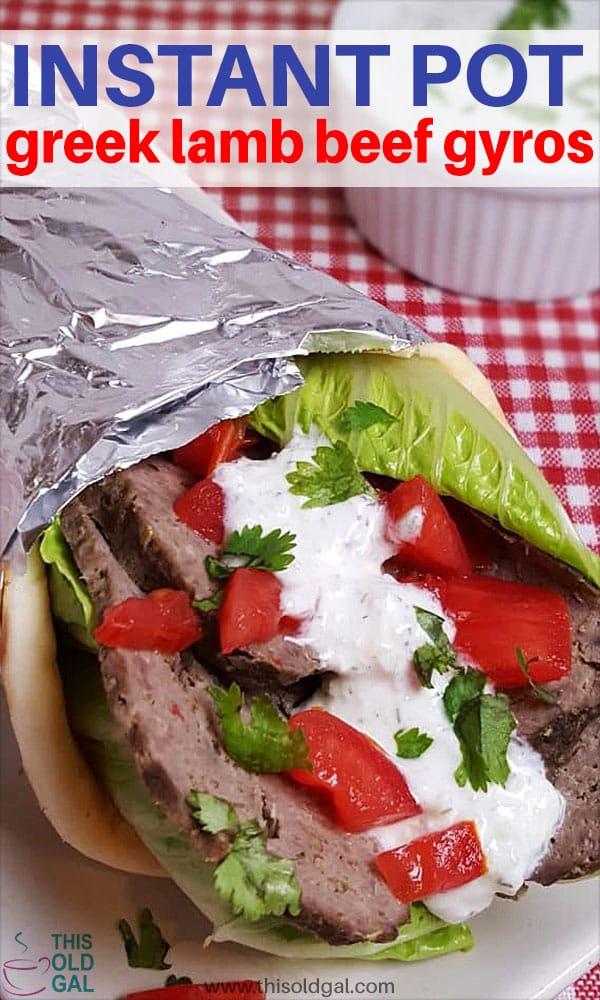 Pressure Cooker Greek Lamb Beef Gyros
