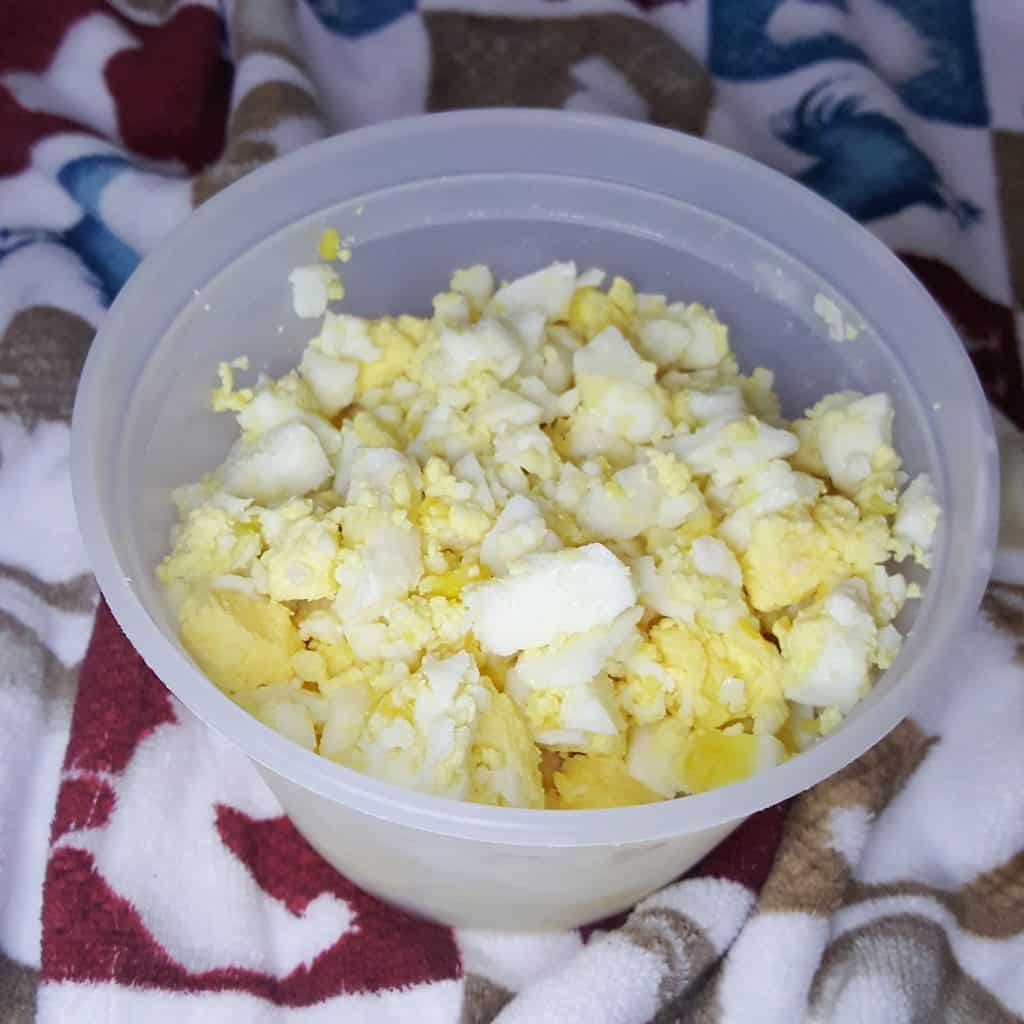 Chopped Eggs Ready to Use on a Whim