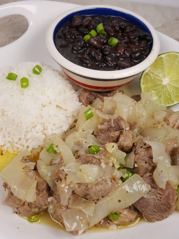 Pressure CookerLechón Asado {Cuban Pork with Mojo}