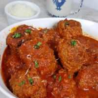 Instant Pot Pressure Cooker Italian Meatballs in Red Wine Sauce
