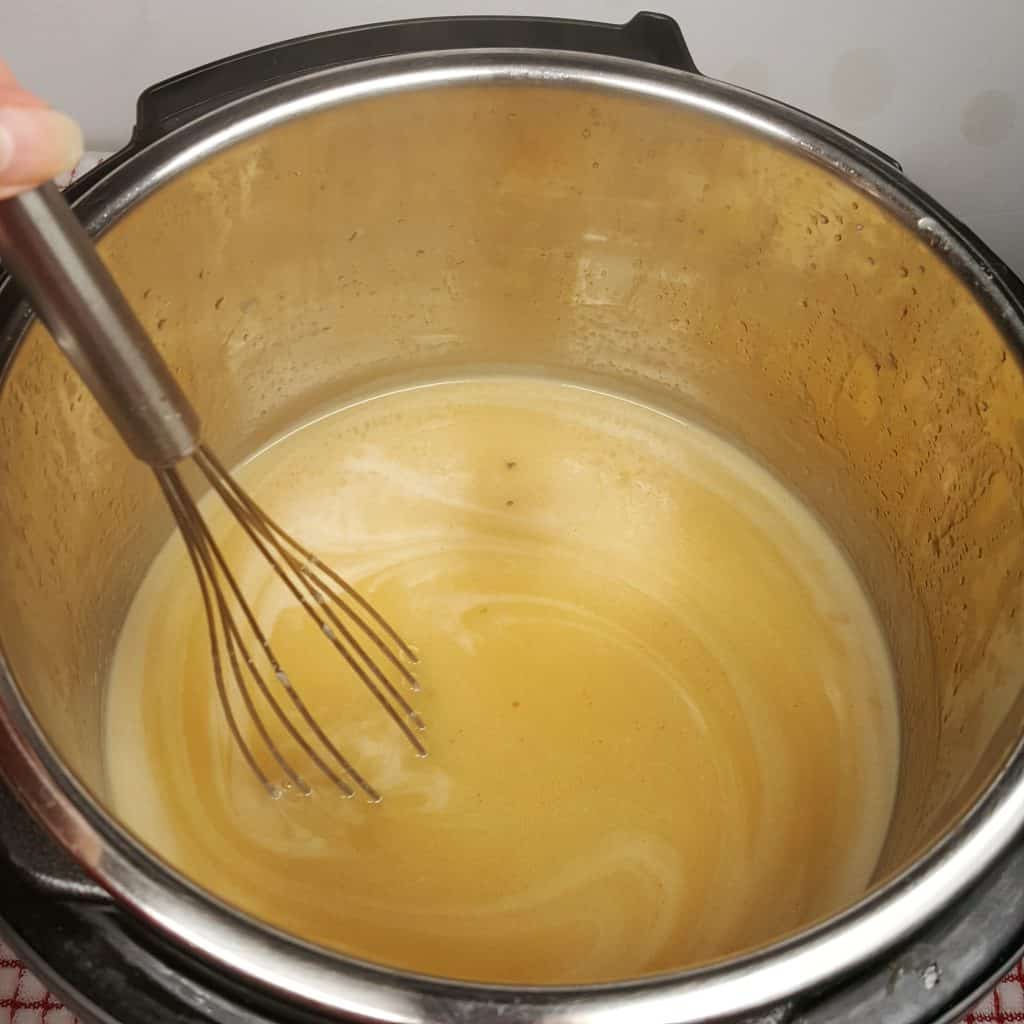 Simmer and Whisk until Desired Consistency