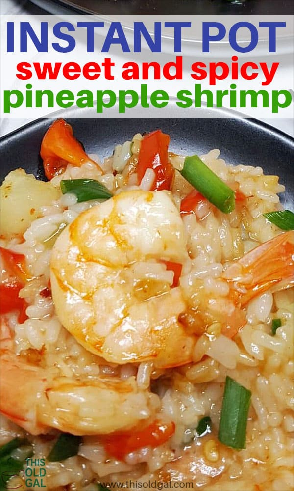 Pressure Cooker Sweet and Spicy Pineapple Shrimp