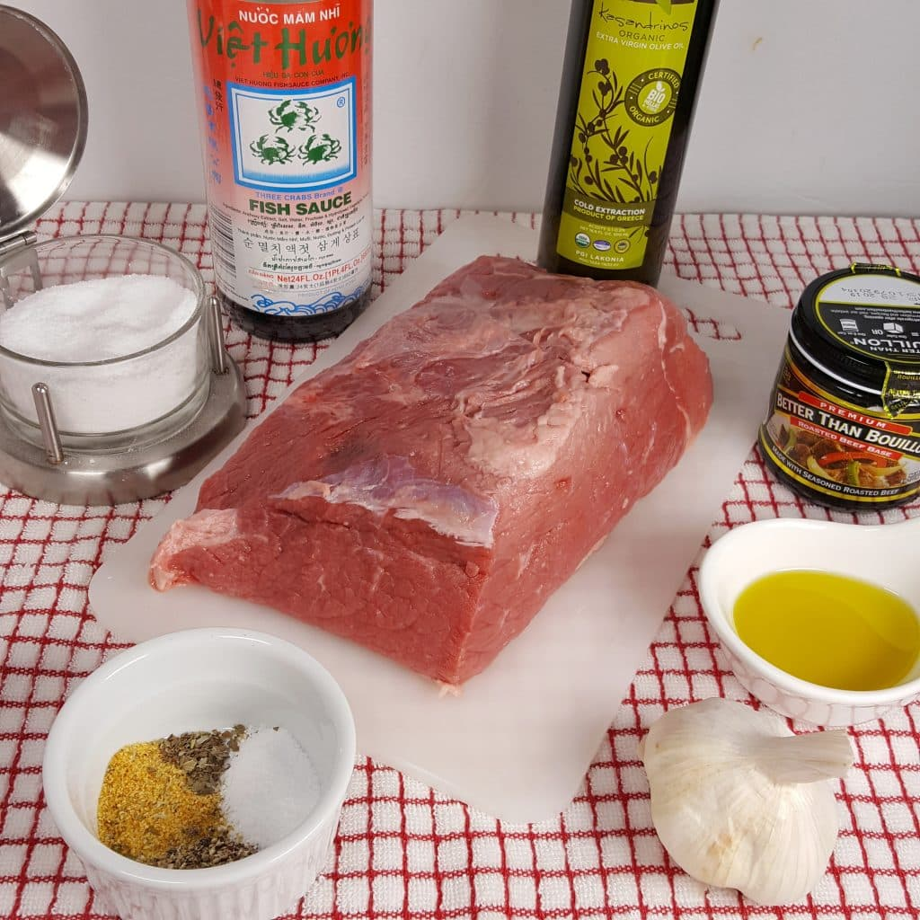CCast of Ingredients for Instant Pot Rare Roast Beef