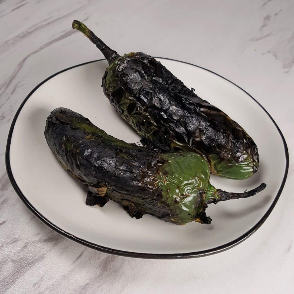 Roasted Pasilla Peppers