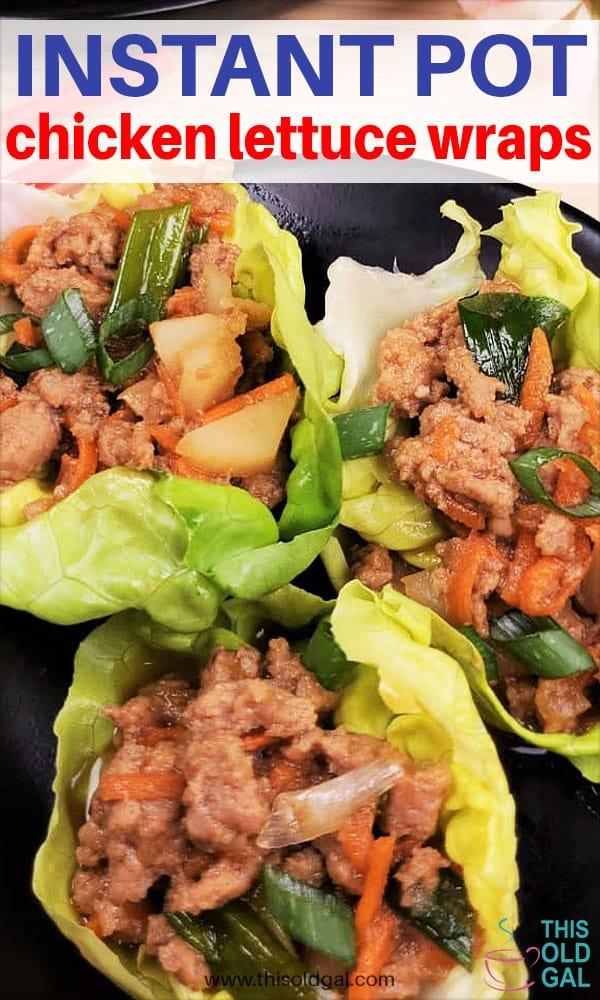 Instant Pot Chicken Lettuce Wraps