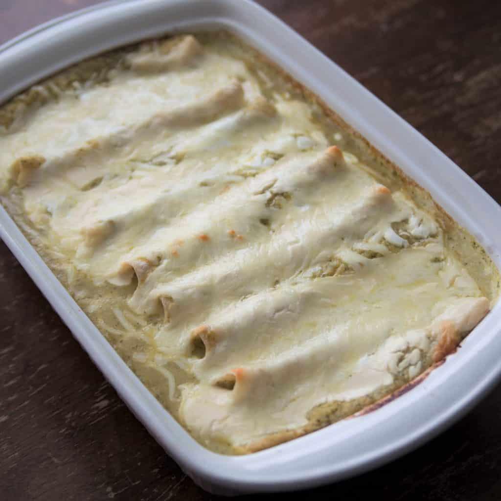 Baked Chicken Enchiladas Suizas