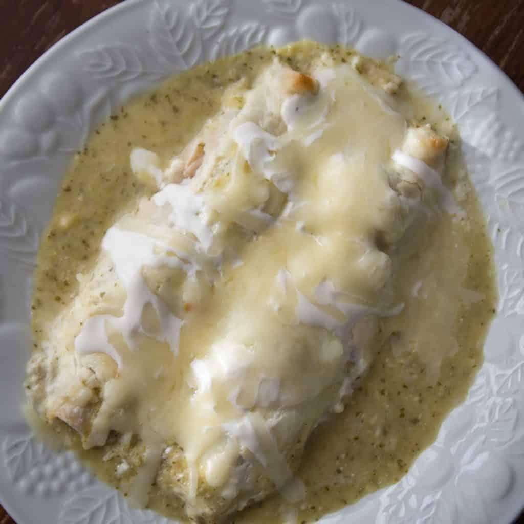 Instant Pot Chicken Enchiladas Suizas
