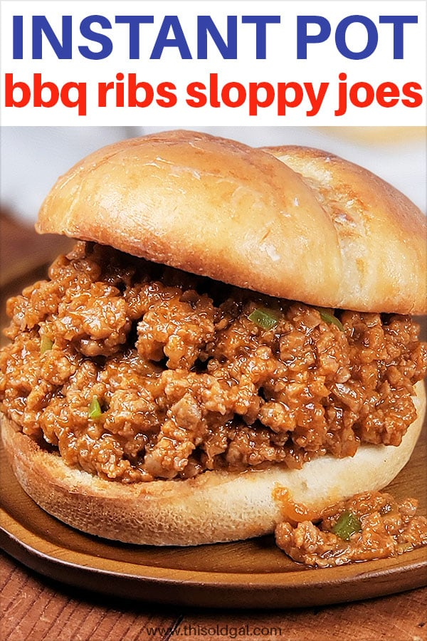 Instant Pot Pressure Cooker BBQ Ribs Sloppy Joes