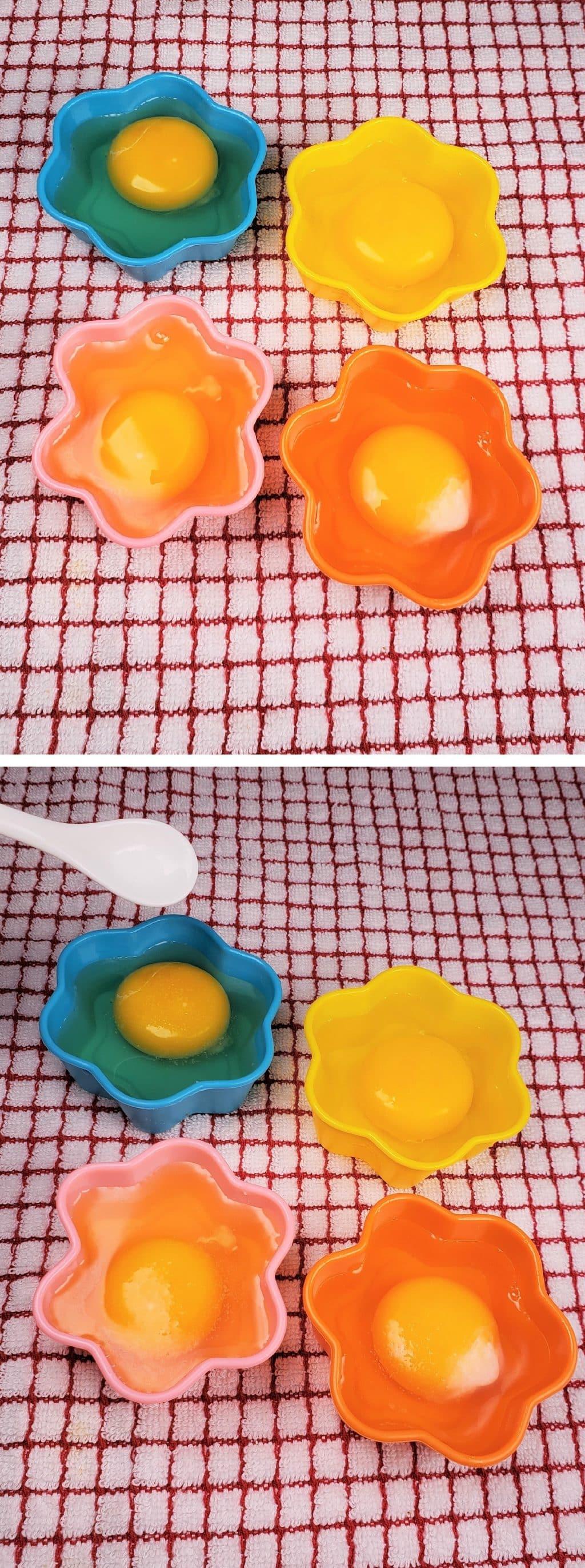 Crack Eggs into Poacher Cups