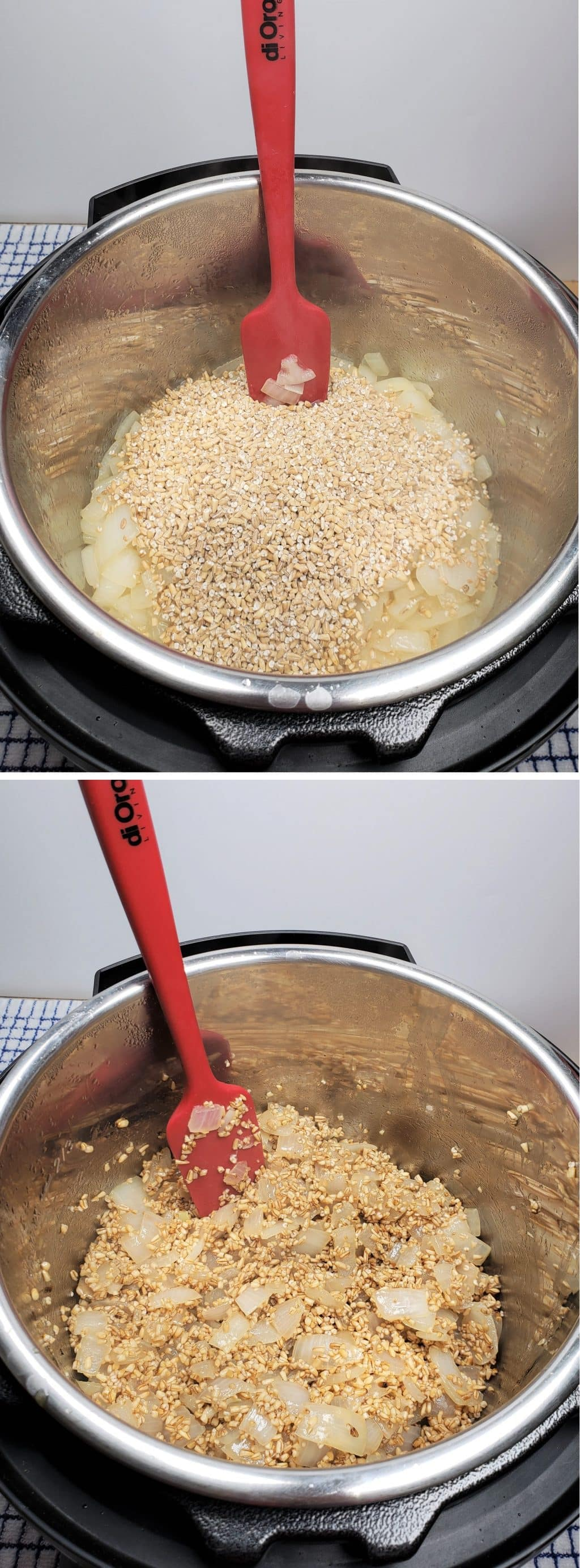 Oats Toasting and Absorbing Liquid