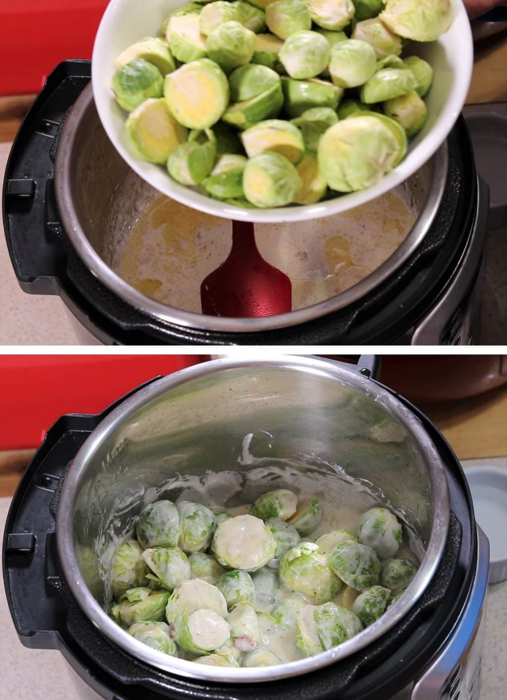 Brussels Sprouts Cook in Cream Sauce