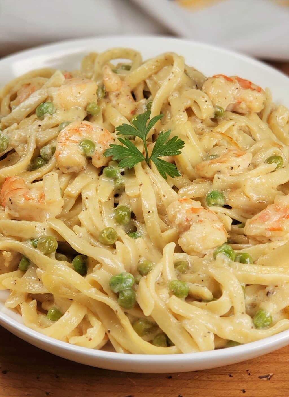 Pressure Cooker Dijon Shrimp Linguine