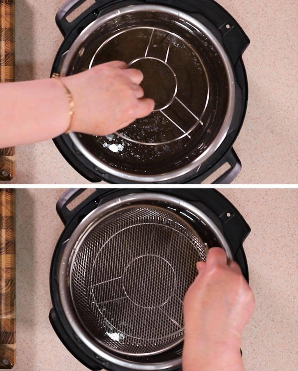 Place Trivet and CrispLid Basket into Instant Pot
