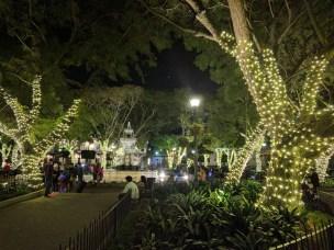 Parque Central Antigua at Christmas