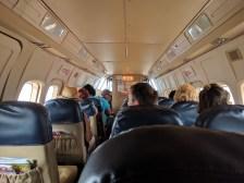 The inside of terror plane