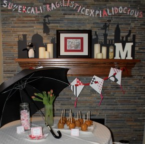A Supercalifragilisticexpialidocious party! Complete with black umbrella.