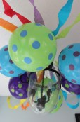 Balloons to match with party streamers