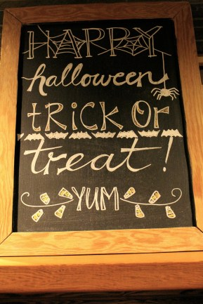Chalkboard art with cute messages