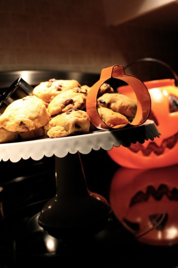 Pumkin cookies with raisin and cinnamon....yum!