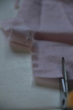 Begin the strip in cotton fabric with scissors, but finsh the strip by ripping the fabric.