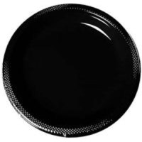 BLACK DINNER PLASTIC PLATES | This Party Started
