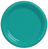 CARIBBEAN TEAL DESSERT PLASTIC PLATES | This Party Started