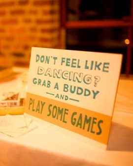 With lots of board games - this is such a sweet idea