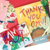 thank you, omu! + collage card craft