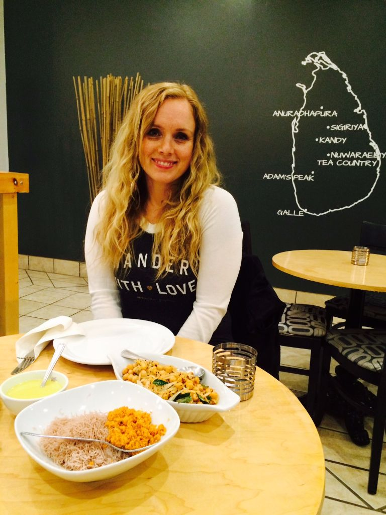My friend Jessica a new fan of Sambol Kitchen after her first visit last week
