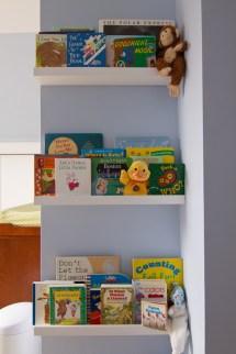 DIY Book Shelves Nursery