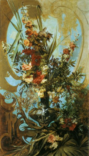 Hans Makart (1840-1884) Grosses Blumenst?k [Large Flower Piece] Oil on canvas, c.1884 80 5/8 x 46 3/8 inches (205 x 118 cm) ?tereichische Galerie Belvedere, Wien