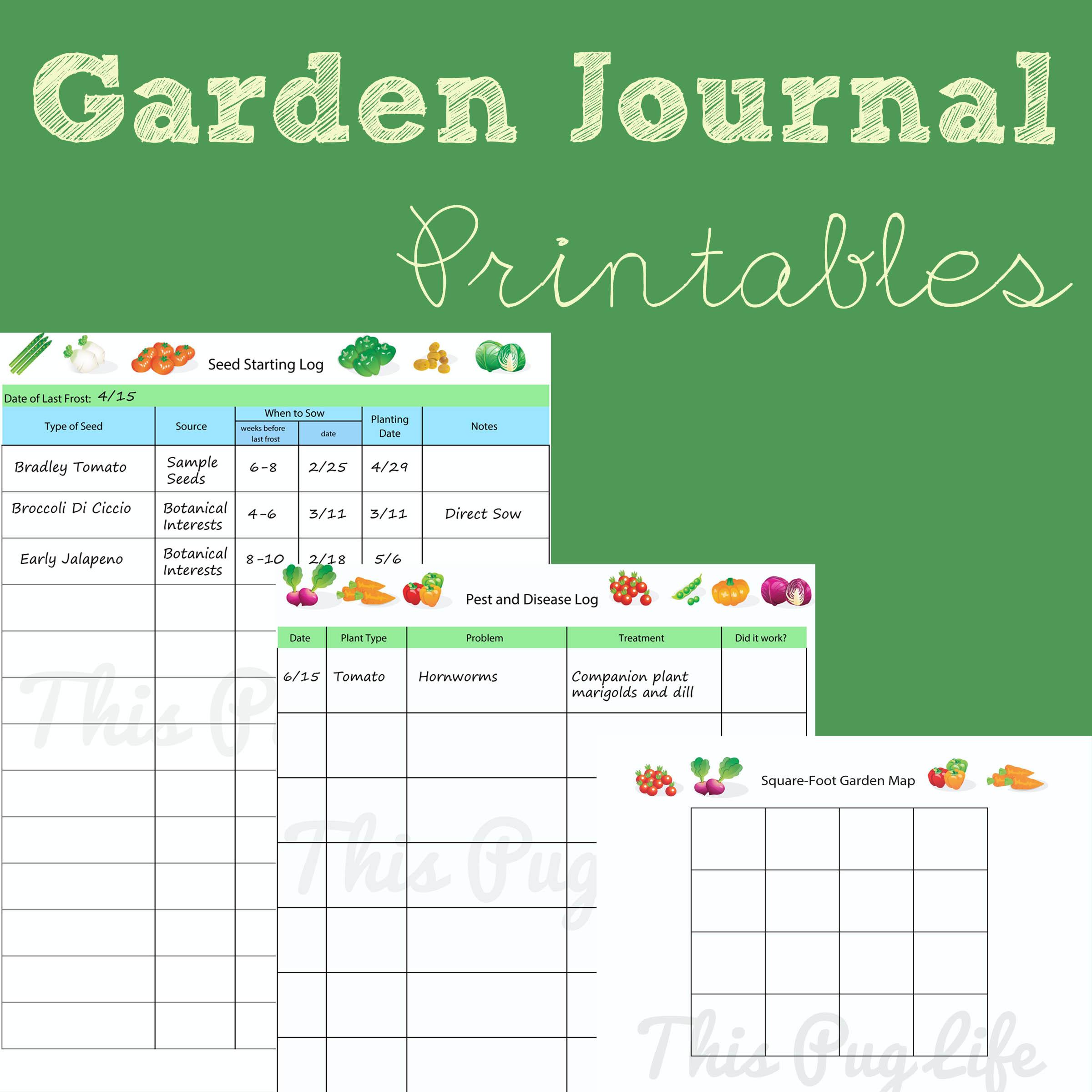 Garden Journal Printables: Updated