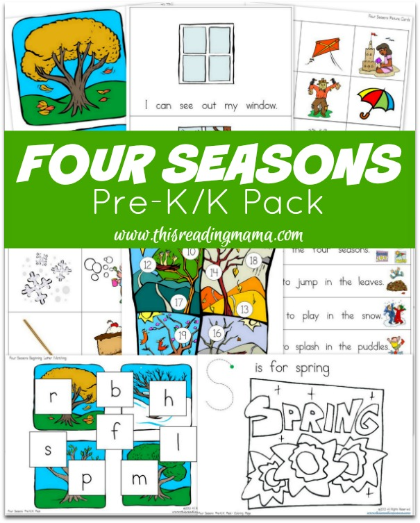 learning about the four seasons free printables resources homeschool giveaways. Black Bedroom Furniture Sets. Home Design Ideas