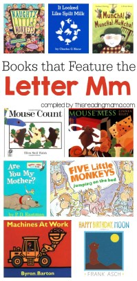 Letter M Book List - Books that Feature the Letter M - This Reading Mama