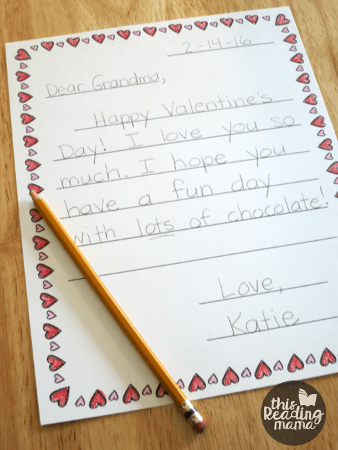 free valentine letter templates for kids  this reading mama