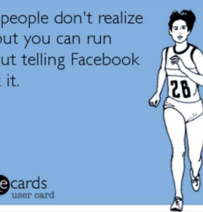 Posting runs on Facebook meme