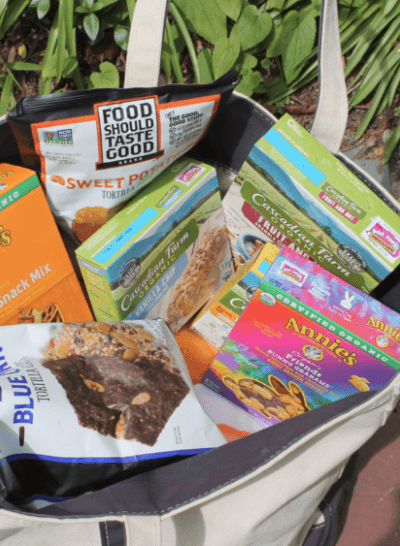 Bag Full of Natural Snacks