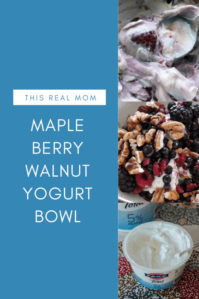 Maple Berry Walnut Yogurt Bowl