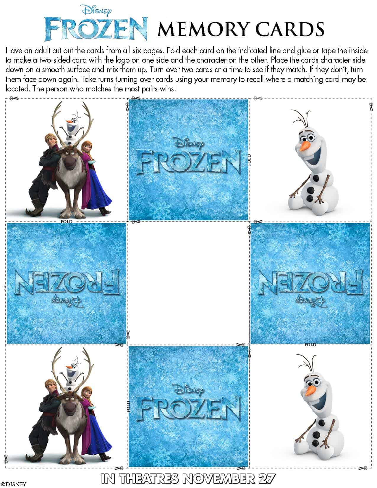 Activity Sheets From Disneyfrozen