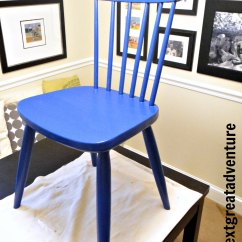 Diy Painted Windsor Chairs Jazzy Chair Battery Yellow Blue The Chalk Paint Adventure Continues This When