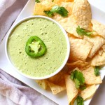 The perfect addition to tacos, nachos or enchiladas - this Vegan Jalapeño Cream Sauce is packed full of flavor and heat | ThisSavoryVegan.com